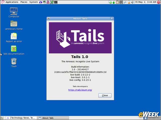 Sistema operativo Tails de Linux que se ejecuta desde un USB sin dejar rastro en el computador